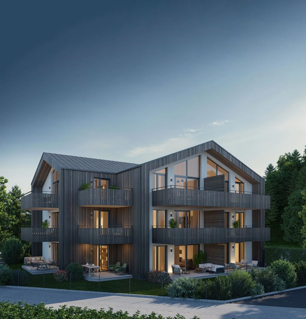 Für das Mehrfamilienwohnhaus mit 9 Wohneinheiten in Bad Ischl hat Blaupause Immobilien Projektentwicklung und -steuerung, Planungs- und Vertriebsleistungen umgesetzt