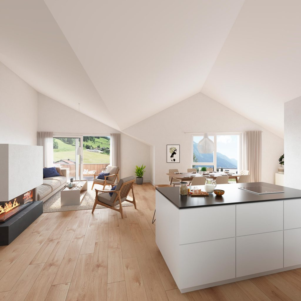 Blaupause Immobilien realisiert in Alpendorf in St. Johann im Pongau ein Mehrfamilienwohnhaus mit 6 Wohneinheiten